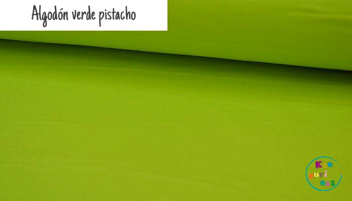 Tela Algodón verde pistacho