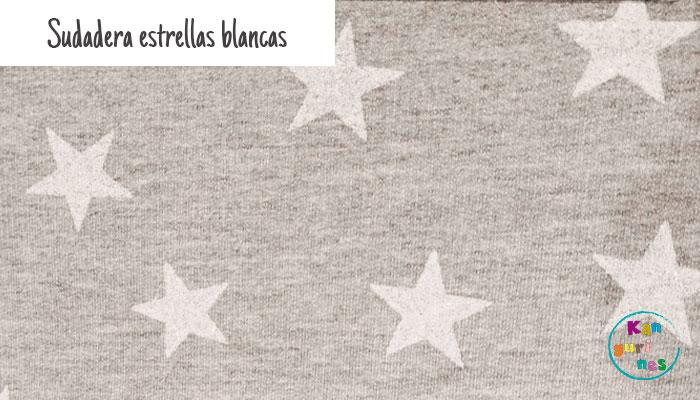 Tela Sudadera estrellas blancas