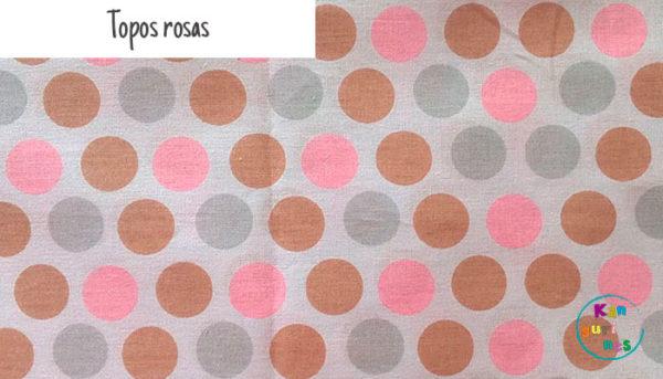 Tela Topos rosas