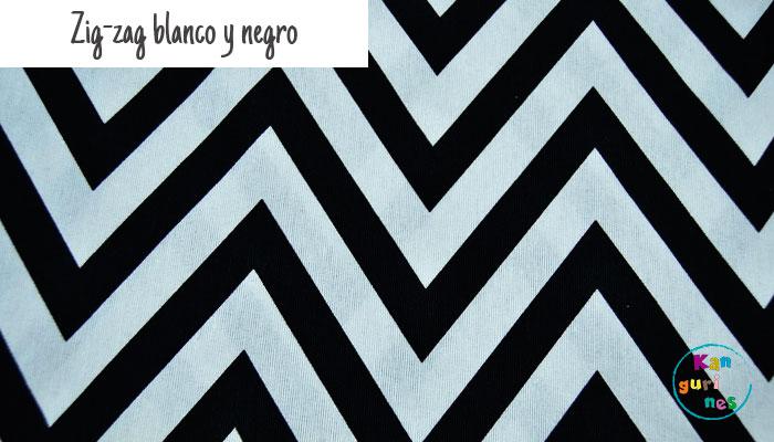 Tela Zig-zag blanco y negro